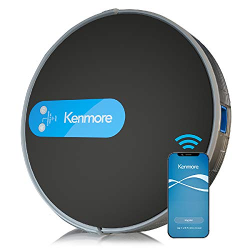"Kenmore 31510 Robot Vacuum Cleaner 1800Pa Suction 3"" Slim Quiet Self-Charging Robotic Vacuum with Stair Sensor,Spot Cleaning, Boundary Strips Works with Alexa for Pet Hair, Hardwood Floors, Carpet"