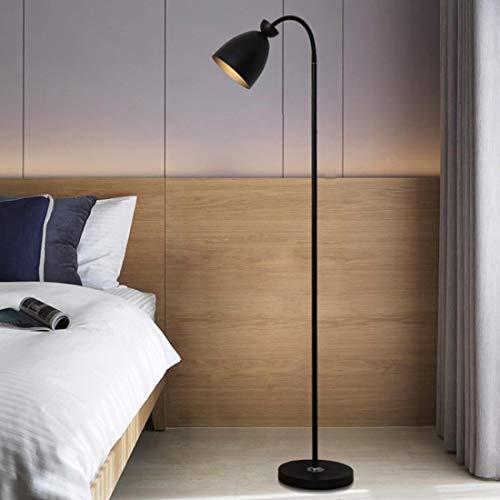 ÉCLAIRAGES DE PLANCHER ZXC YWXLight Lampadaire Vertical Macaron Protection (Noir) (Couleur : Black)
