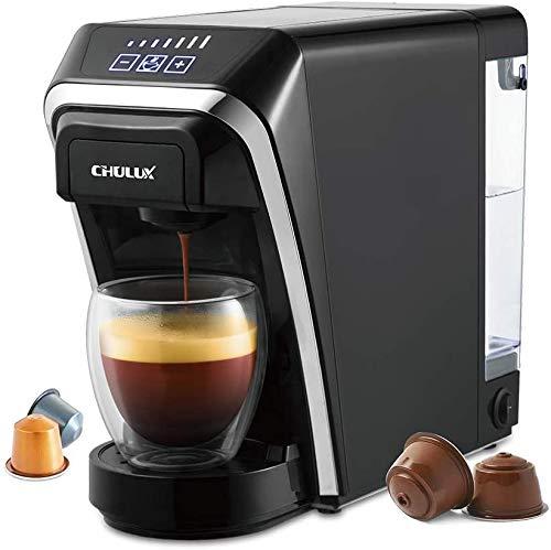 Cafetera de cápsulas, cafeteras Chulux multifuncionales de un solo servicio compatibles con cápsulas Nespresso y Dolce Gusto para uso en el hogar y la oficina