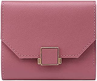 HIIHHIIHIqb Wallet Purse, Leather Women Small Foursquare Wallet Card Holder Money Bags Casual Solid Colour Female Short Co...