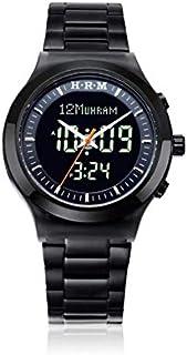 ساعة الحرمين الرسمية توقيتين للرجال لون أسود HA-6106B