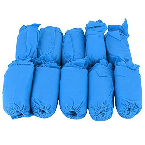 Couvre-Bottes, Couvre-Chaussures jetables Anti-poussière écologique 100 pièces pour Bureau pour Femmes pour Hommes pour Enfants pour Chambre à Coucher pour hôtel(Bleu Marine)