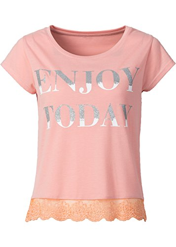 T-Shirt Rose Corail Neuf Taille 40