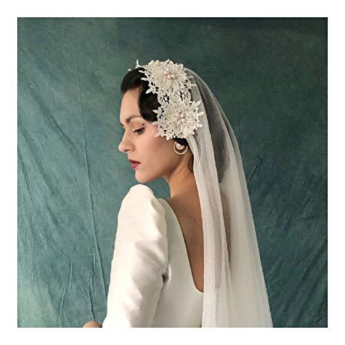 Bridal Wedding Veils Bridal Veil White Retro Elegance Wedding Veil Pearl Short Veil Mantilla Wedding Gorgeous Bridal Tulle