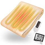 電磁波99%カット 綿100% オーガニックコットン使用 洗える 電気毛布 掛敷両用タイプ 日本製 ダニ対策機能 タイマー付 正規品 ZB-OC101SGT 130×188cm 「湿度&温度計」付き