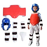 Nikou Juego de Taekwondo - Juego de protección de Taekwondo Boxing Karate Crotch Taekwondo, 7 Piezas/Juego (tamaño : XL (Height 170cm))