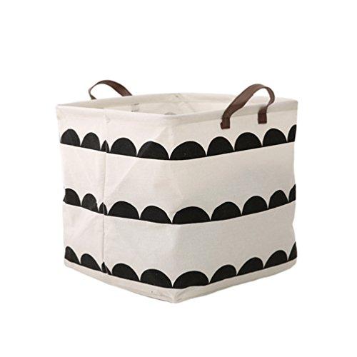 Dooxi Faltbare Kinder Aufbewahrungskörbe Wäschesammler Aufbewahrungskiste Kinderzimmer Wäschekörbe Aufbewahrungsboxen Organizer Korb Spielzeugkiste