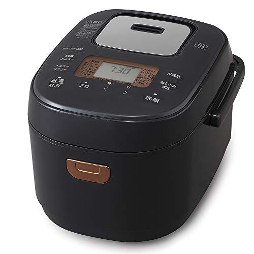 アイリスオーヤマ IH炊飯器 3合 IH式 40銘柄炊き分け機能 極厚火釜 玄米 2020年モデル ブラックレーベル BLRC-IK30-B