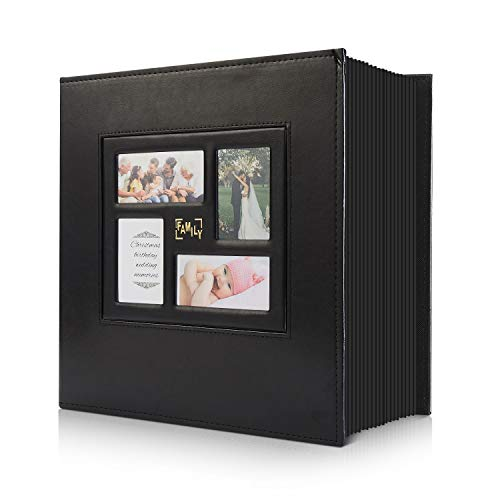 Photo Album 4x6 1000 Pockets Photos, Extra Large Capacity Family Wedding Picture Albums Holds 1000 Horizontal and Vertical Photos (1000Pockets, Black)