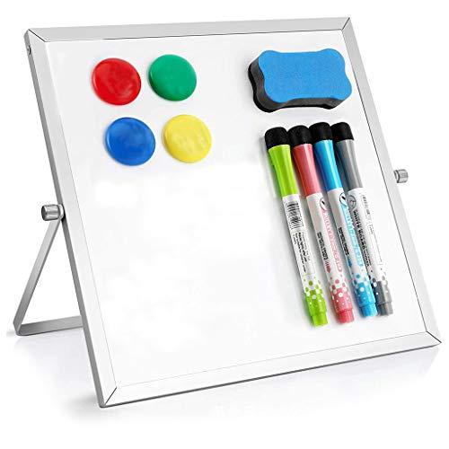 Pequeño Dr y Erase Pizarra blanca magnética de escritorio 10 'x 10' de doble cara mini caballete blanco para niños Dr y Erase