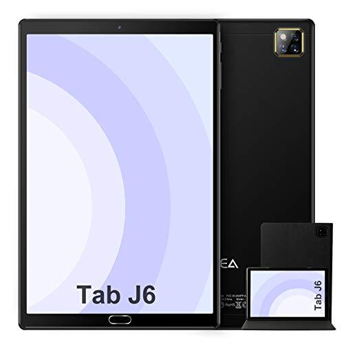 Tablet 10 Pollici Android 10.0 - RAM 4GB | ROM 64GB - WIFI -Octa core (Certificazione GOOGLE GMS) -JUSYEA Tablets - 6000mAh Batteria - Custodia di Alta Qualità(Nero)