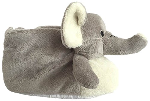 MAE CEL-Hausschuhe Plüschtiere Plüsch Elefant, grau (Mae 258elefante)