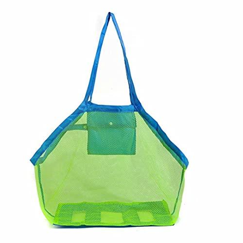 Bolsa de playa plegable de malla para recoger los juguetes de playa herramienta de picnic de la compra en el mercado de juguetes para niños en la playa