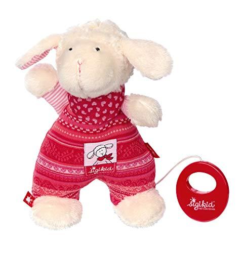 sigikid, Mädchen, Spieluhr Schaf Schnuggi, Rosa/Weiß, 48168