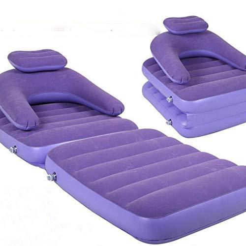 anruo Faltbarer Sitzsack aufblasbarer Stuhl aufblasbarer Sitzsack Sofa Stuhl Beflockung Sofa zurück