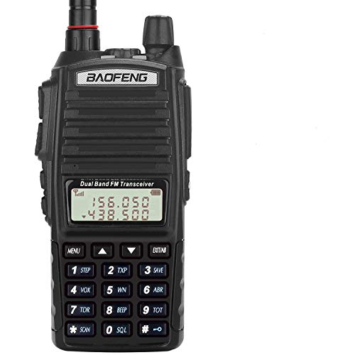 BaoFeng Radio UV-82+ 8W Handheld Dual Band VHF/UHF Two Way Ham Radio Rechargeable Long Range Walkie...