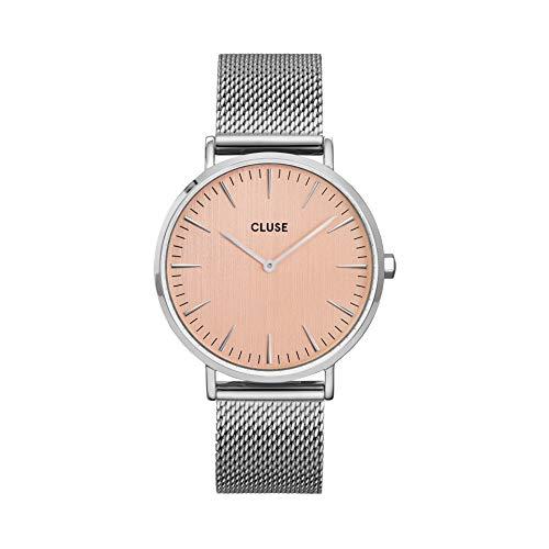 Cluse Damen-Armbanduhr La Bohème CW0101201026 Mesh Bicolour 18mm