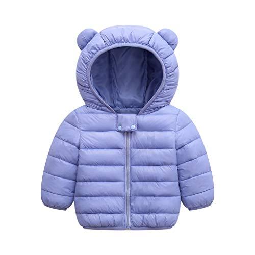 Zoerea Tute da Neve per Beb/è Bambina Invernale Piumino Leggero Caldo Unisex Bambino Neonato Giacca con Cappuccio Pantaloni da Sci 2 Pezzi