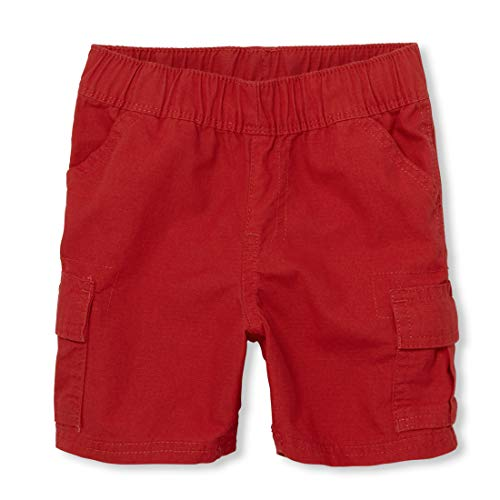 The Children's Place Baby Boys' Toddler Pull On Cargo Shorts, Ruby 60634, 4T