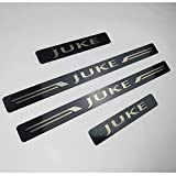AMPTRV Acero Inoxidable Decoración estribos Coche para Nissan Juke 2010-2021,Protector umbral Puerta Placas Pedal Cubierta Antiarañ Placa Desgaste Embellecedores carrocería Accesorios
