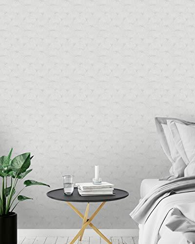 Ginko Biloba Leaves Wallpaper (Grey)