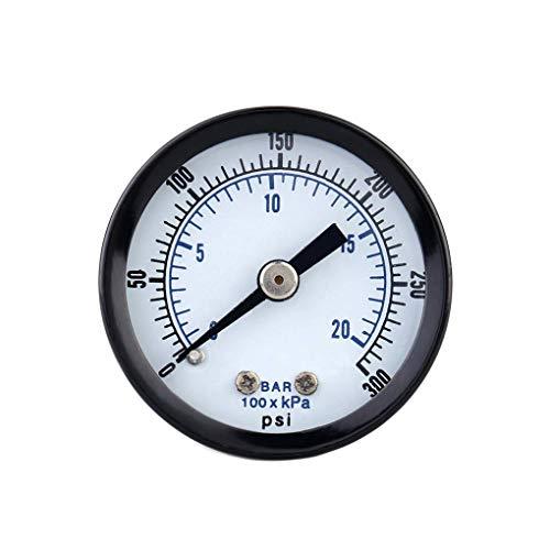 Busirde 0-20bar 0-300psi Mini jauge de Pression pneumatique compresseur d'air manomètre Compteur Pression du Fluide hydraulique testeur