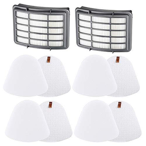 LINNIW Premium 4+2 Pack Vacuum Filter Replacement Compatible Shark Navigator Lift-Away NV350, NV351, NV352, NV355, NV356E, NV357, NV360, NV370, NV391, UV440, UV490, UV540,Replacement XFF350 XHF350