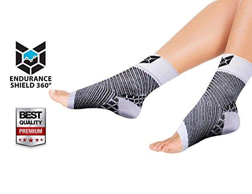 Compression Foot Sleeve (2 pcs) - Lightweight Foot Sleeves for Plantar Fasciitis, Heel Spurs,...