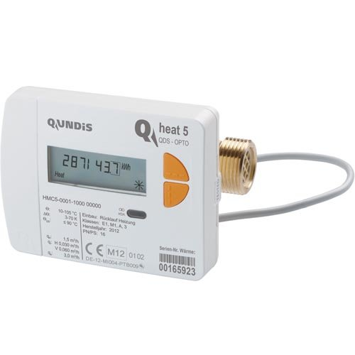 Qundis Wärmemengenzähler Q heat 5 mit Verschraubung 1,5 m³/h - G 3/4 B - 110mm
