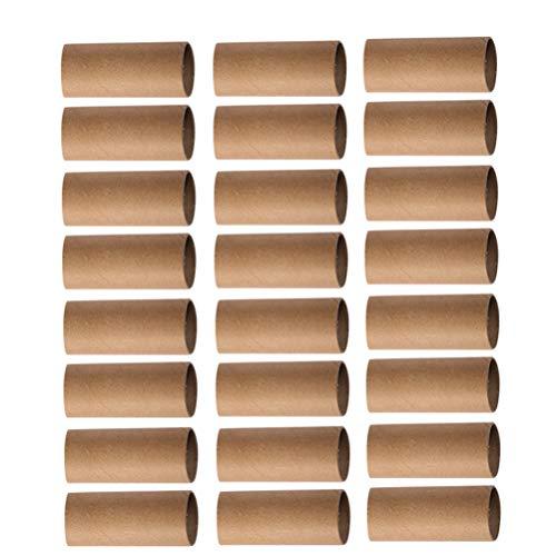 STOBOK 30 Piezas de Arte Artesanal de Cartón Kraft Tubo de Cartón 10X4cm para Salón de Clases Pintura DIY Proyecto de Jardín de Infantes Dibujo de La Escuela Rollo de Juguetes