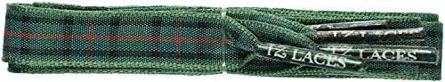 TZ Laces Marke Flach 10mm Schottischer Tartan Kleid Schnürsenkel Mode Schuhe Neu - Blumen von Schottland, 140