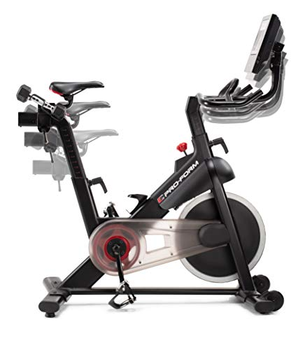 ProForm Vélo de Biking Power 10.0-Connecté-Compatible Ifit Smart Cardio-Ecran Tactile 10'' -Abonnement 1an Inclus pour des Entraînements et Vidéos Coachées Mixte, Noir, 143 X 56 X 139 cm