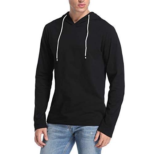 Joweechy Mens Pullover Hoodie Short Sleeve Casual Hoodies Top Shirt Sportswear