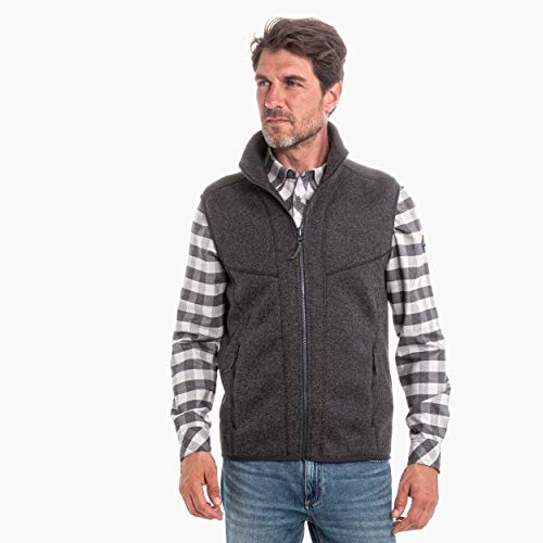 Schöffel Herren ZipIn Fleece Vest Imphal1 Fleeceweste, Charcoal, 52