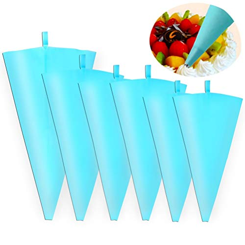 6 bolsas reutilizables para pastelería, 4 bolsas de silicona gruesas para glaseado
