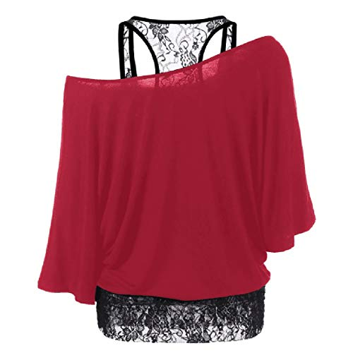 Pistaz Women's Casual V Neck Long Sleeve Balloon Shirt and Blouses Loose Lace Solid Crochet Button Down Bell Sleeve Tops Shirts Loose Blouses