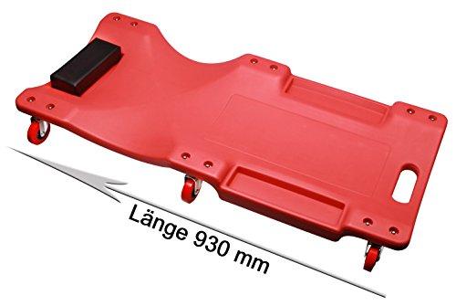 KFZ Montagerollbrett, Rollbrett, Montageliege mit 6 Laufrollen Ø 60 mm bis 120 Kg