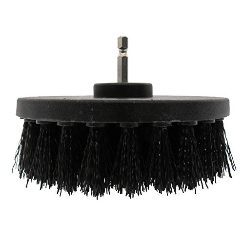 EEMHE Cepillo de Limpieza 1pc 5 Pulgadas de plástico Suave de plástico de plástico Accesorio para Limpiar Alfombra de Cuero y tapicería Cepillo de Limpieza Fuerte detergencia (Color : Black)