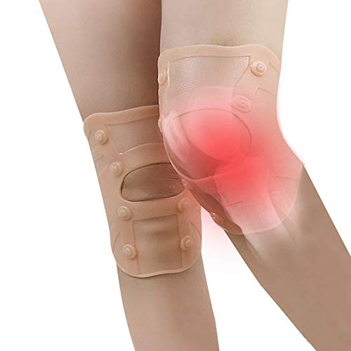 Tcare 1Pair Magnetic Therapy Knee Support Patella Stabilizer for Running Basketball Crossfit Squats Weightlifting Arthritis and Meniscus Tear (Magnetic Therapy Knee Brace)