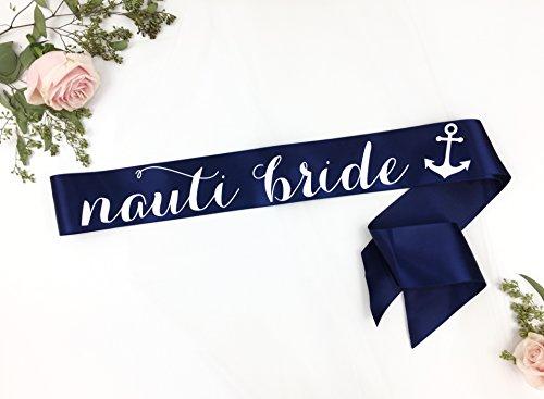 Nauti Bride Sash, Nautical Bride, Last Sail before the Veil sash, navy white glitter sash, Bachelorette Sash, Bride to Be Sash, Bridal Sash