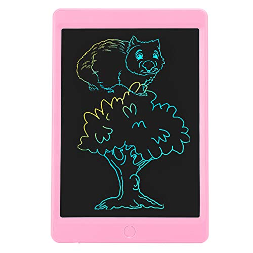 Fockety Lcd Writing Tablet, No Radiation Portable Lcd Drawing Pad, Colorful Screen Without Backlight One‑Click Erasing for Travelling Kids(Pink)