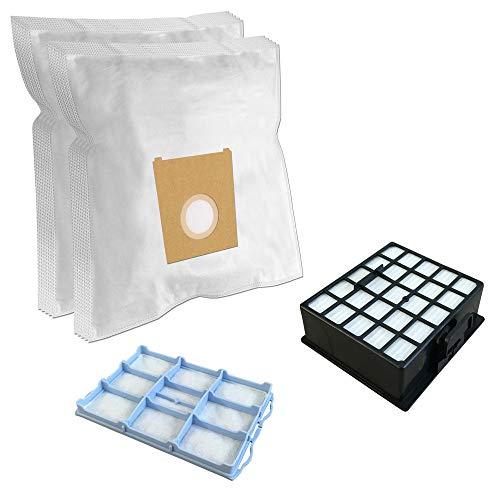 SUPER SET - Filtro HEPA + Filtro del motor + 10 Bolsas de aspiradora Para BOSCH BSGL 42280/01 GL-40 bagless, BSGL 42283/01 GL-40 bagless