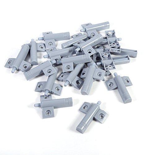 Amortiguador de Plástico, Haofy 20 Piezas Amortiguador de Puerta Silencioso, para armario Reduzca el Ruido de la Oficina, Gabinete, Cajón y Puerta de Srmario de Cocina (Gris)
