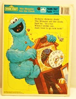 Sesame Street the Monster Ate the Clock Frame Tray Puzzle