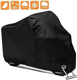 Cymax Funda para Moto,Cubierta de la Moto Cubierta Protectora UV,Impermeable y Resistente al Viento,Antipolvo con una Bolsa de Almacenamiento,245X105X125cm,Negro