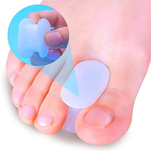 Povihome 10 Pack Toe Spacers Separators(1/2'' Thick), Bunion Corrector Gel Orthotics for Bunion, Overlapping Toes - L Size
