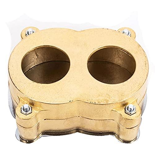 Matraz de dentadura de laboratorio dental, piezas de compresor de matraz de dentadura de cobre dental Piezas de equipo de compresión de prensa dental (XL)
