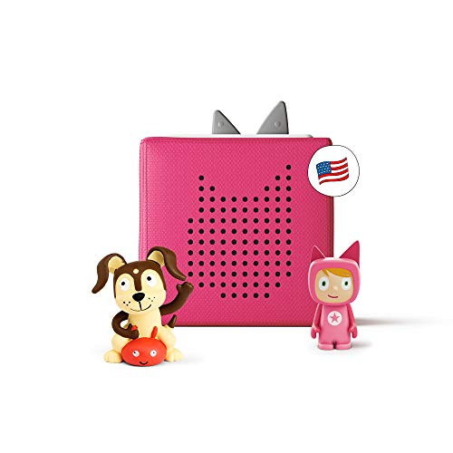 tonies Toniebox Starter Set Pink + Playtime Action Educational Musical Toy for Girls - Imagination-Building, Screen-Free Digital Listening Experience That Plays Stories, Songs, and More