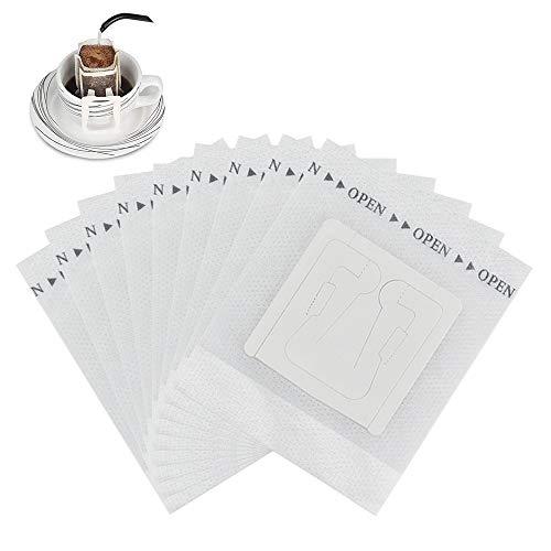 UTRUGAN 50 Stück Kaffee Drip Filter Einweg KaffeeFilter Kaffee-Papier-Filter Weiß Kaffee Tee Drip Filtertüten Feine Teefilter mit hängenden Ohr für Camping, Outdoor, Reisen, Zuhause