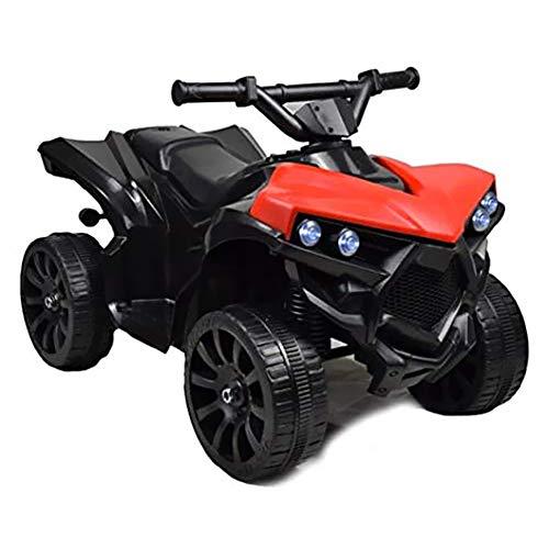 BAKAJI Quad Elettrico per Bambini Cavalcabile 6V Mini Moto Elettrica con 4...